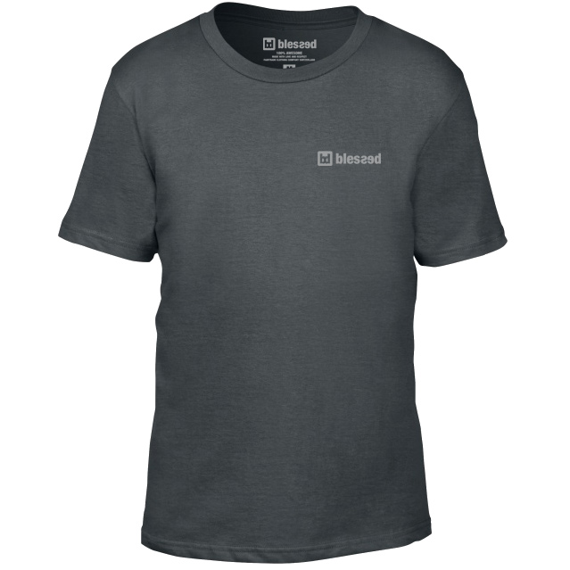 blessed-kids-t-shirt-charcoal-1 Shirt : Basic Dark Grey Kids
