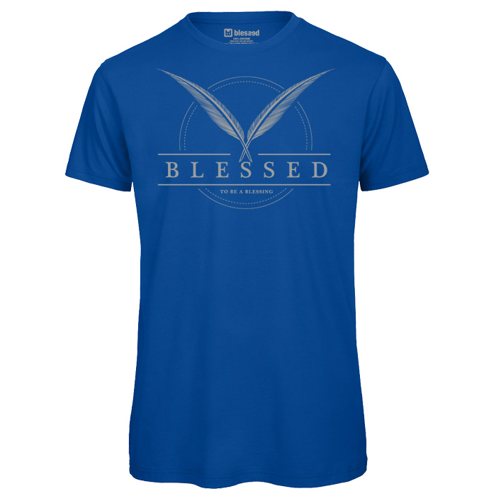 blessed-men-t-shirt-feather-royal-blue-1 % SALE % : Feather Royal Blue