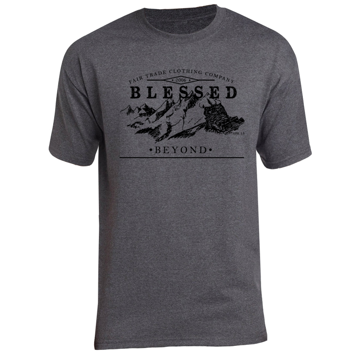 blessed-men-t-shirt-tweet-front % SALE % : Mountain Heather-Grey