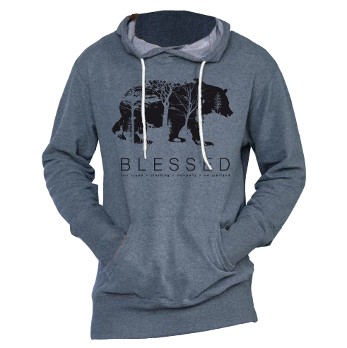 blessed-unisex-hoody-bear-grey-front New Collection : Bear Unisex Hoody Grey