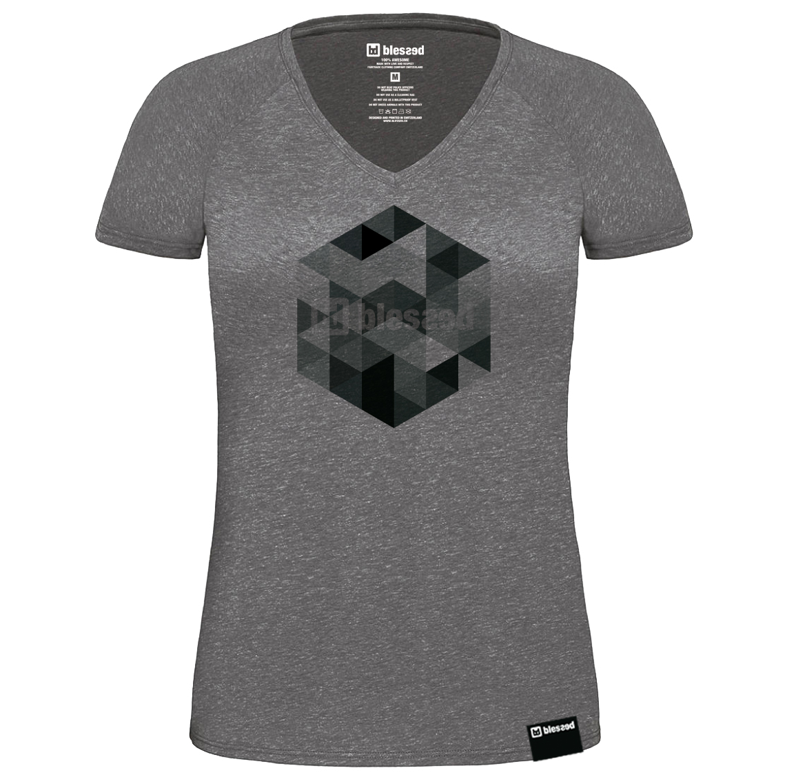blessed-women-t-shirt-grey_hexagon % SALE % : Keno Grey