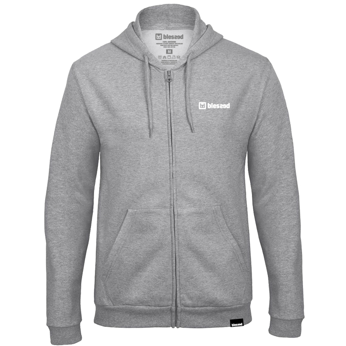 blessed_basic-zip-hoody_grey-front Pullover : Basic Zip-Hoody Grey