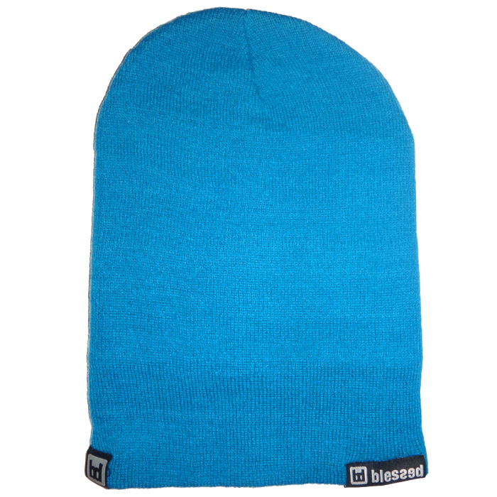 blessed_beanie_double_cyan % SALE % : Beanie Double Cyan