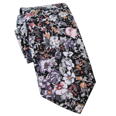 blessed_floral_tie_eliel New Collection : Floral Krawatte Eliel