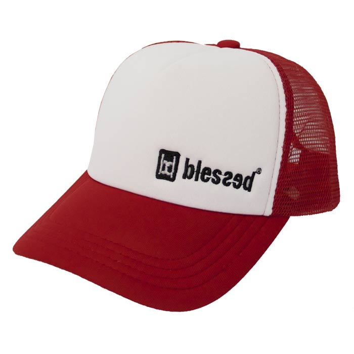 blessed_truckercap_team_red_big6 % SALE % : Trucker Red/White