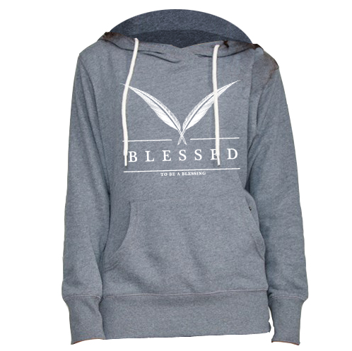 blessed_women-hoody-feather-grey-front-1 New Collection : Feather Women Hoody Grey