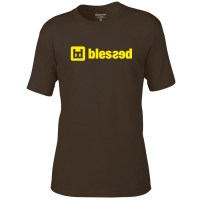blessed-men-t-shirt-clasic-chocolate-yellow-1